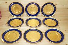 "Royal Bavarian Hutschenreuther Cobalt & Gold  (9) Cream Soup Saucers? 7"""