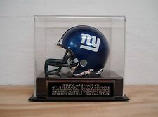 Football Mini Helmet Display Case With A Troy Aikman Cowboys Engraved Nameplate