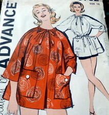 LOVELY VTG 1960s BEACH COAT ADVANCE Sewing Pattern 10/31 FF