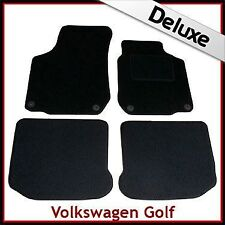 Volkswagen VW Golf Mk4 1997-2004 Tailored LUXURY 1300g Carpet Car Mats BLACK