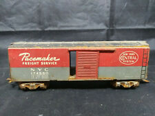 PACEMAKER FREIGHT NYC 174580 RED BOX CAR- STEEL - VARNEY? o27 Gauge- Vintage USA