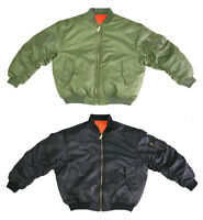 "Air Force Military Reversible MA-1 NYLON Bomber Jacket ''SALE"""" (FAST Shipping)"