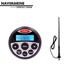 Marine FM AM Radio Bluetooth Stereo Waterproof Antenna For Car Audio Receiver