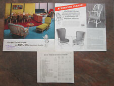 Vintage 1962 Ercol Catalogue Brochure With Price List Catalogue Changes Leaflet