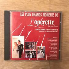 CD - Les plus grands moments de l'opérette - Marcel MERKES - Paulette MERVAL