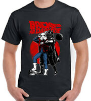 BACK TO THE FUTURE T-SHIRT Parody Mens Funny Tee Top Movie Film