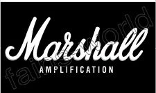 MARSHALL AMPLIFICATION FLAG BANNER POSTER SIGN 3' X 5' amp