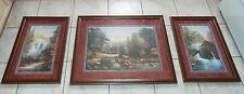 Large 3 Piece Vintage Home Interiors Picture Set By Sambataro. Nature Outdoors
