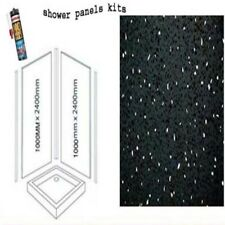BLACK SPARKLE SHOWER WALL PANELS KITS 2X1M X 2400X 10MM THICK
