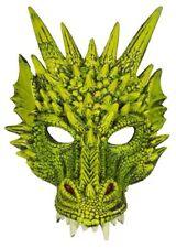 2414 Maschera Drago Verde Animali Accessori Travestimenti Carnevale Halloween