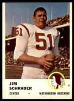 1961 Fleer #113 Jim Schrader CENTER Washington Redskins / Notre Dame