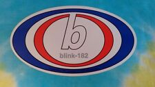 Blink - 182 Red, White & Blue Oval 6.25 Inch Sticker