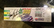 Mark Martin Ticket Stub From Victory @  2002 Little Tree  300 Autograph Signed