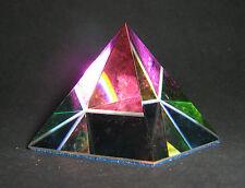 Piramide Cristallo Peackoc GLASS CRYSTAL COLOUR PYRAMID ORNAMENT 105891-50