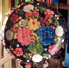 Vintage 13 1/2 inch Mexican Batea Bowl Beautiful Vibrant Colors