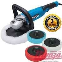 Silverline 1200 watt Rotary Machine Car Polisher Complete Kit **3 YEAR WARRANTY*