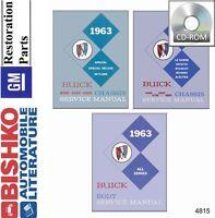 1963 Buick Skylark Special Wildcat Shop Service Repair Manual CD OEM Guide
