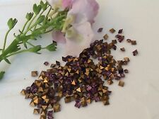 Swarovski #4401 Rhinestone Squares Foiled Amethyst 2mm Pack of 15 REPAIR CRAFT