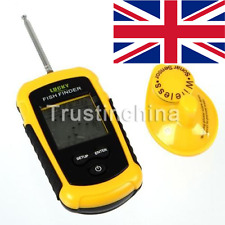UK Lucky 100m Alarm Sonar 40M/130FT Depth Ocean Wireless Fish Fishing Finder