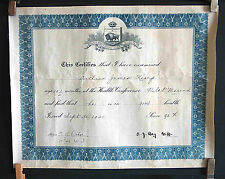 1921 Certificate of Health for High School Pilot Mound Manitoba Canada FREE SH