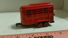1/64 ERTL farm toy custom red bumper pull horse trailer pigs cattle sheep