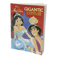 New Aladdin Gigantic Coloring and Activity Book Stand-Up Characters on Back