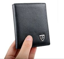 Men's Bifold Genuine Leather Mini Purse ID Card Holder Handbag Wallet Billfold