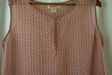 Liberty Love Women's Shirt Size Medium M Blush Pink Birds Tan Tank Top