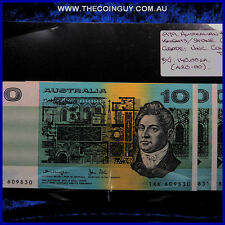 1979 Australian Ten Dollar Notes Unc Knights/Stone, 3 x Consecutive