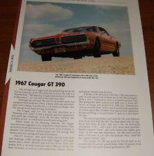★★1967 MERCURY COUGAR GT 390 SPECS INFO PHOTO 67 GT390★★