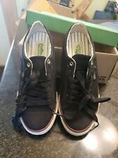 NIB Simple Mens Tubba Part Suede  Sneakers Lace-up Walking Tennis Shoes Black 7