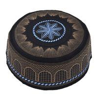 Muslim Hat Turkish Skull Cap Topi Kufi Islamic Prayer Namaz Beanie Embroidery