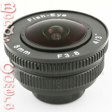 "8mm f/3.8 C mount 4/3"" Fisheye CCTV Lens for Micro 4/3 M4/3 E-PL7 M1 GH4 OM-D"