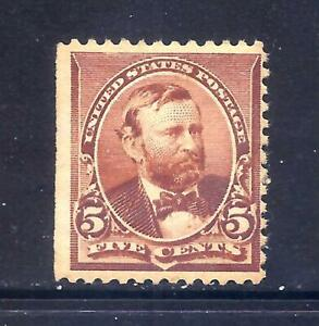 US Stamps - #223 - MNH - 5 cent Grant Issue - CV $185