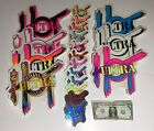 NEW ULTRA HOT 80'S SCREEN PRINTED SURF STICKERS NOS THE REAL DEAL