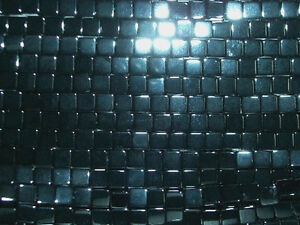 Black Onyx Cube. 6mm. High Quality. Approx. 16 inch Strand.