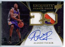 2007-08 Exquisite ALANDO TUCKER Auto Number Pieces 3 Color Dual Patch RC SP #/29