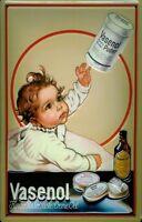 Vasenol Puder Kind Blechschild Schild 3D geprägt gewölbt Tin Sign 20 x 30 cm