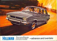 Hillman Hunter c.1969 UK market colour sales brochure