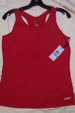 CALVIN KLEIN PERFORMANCE Quick Dry Racer back Tank Workout Top RED XS