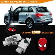 Spider Spiderman Logo Car Door Projector LED Welcome Ghost Shadow Light For Audi