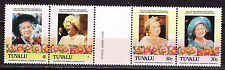 Tuvalu Queen-Mother Elizabeth stamps MNH Printing Error Missing $1 Nomination
