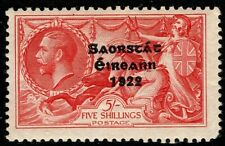 More details for ireland 1935 sg100 5s bright rose-red seahorse mh mint ng cv £90