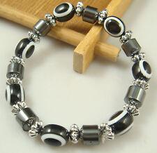 1pcs new fashion accessories charm bead spacing haematite Stretch Bracelet gtn5
