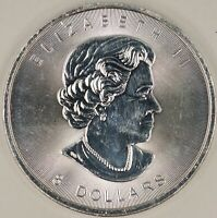 2015 Canadian $8. 1 1/4ozt Bison. RAW1533/RN