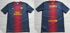 FC BARCELONA home jersey shirt NIKE 2012-2013 BARCA Blaugrana LEWIS adult SIZE M