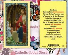 Dear Jesus thank you for my Holy Communion - Laminated Holy Card