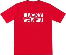 LUCKY CRAFT Sports (Dri-Fit) T-shirts - Red & White - Large