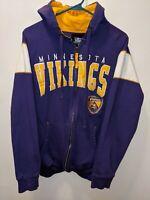 Minnesota Vikings NFL Football Hoodie Sweatshirt full zip Medium pre owned