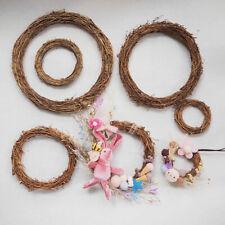 Christmas Natural Dried Rattan Wreath Xmas Garland Door Home Party Decor